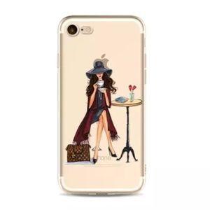 iPhone X XS 7 8  Case Luxurious Brunette Girl